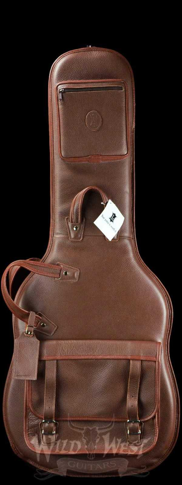 Levy's Leathers LM18-BRN Leather Deluxe Electric Guitar Bag Brown