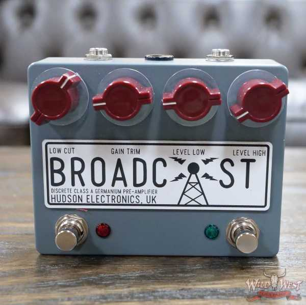 Hudson Electronics Broadcaster Dual Foot Switch Overdrive Pedal