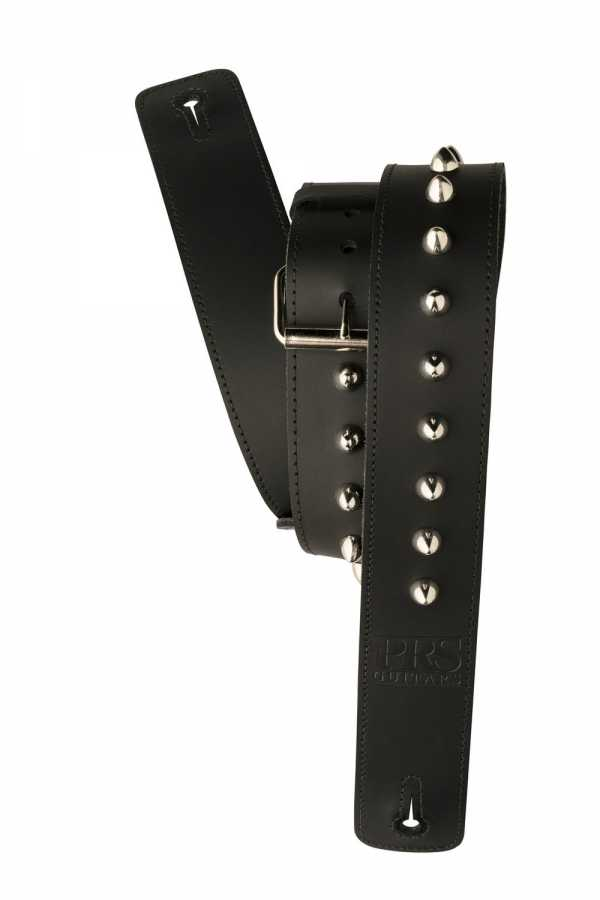 "Paul Reed Smith PRS 2"" Black Studded Leather Guitar Strap"