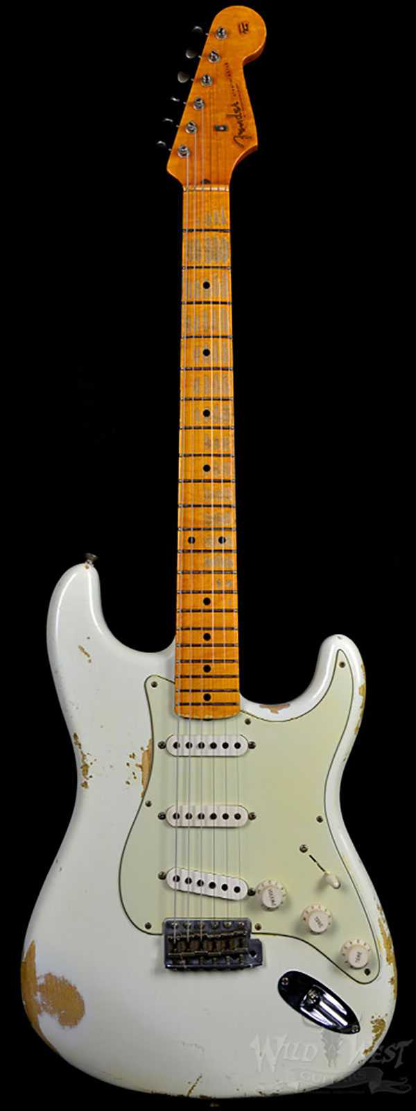 Fender 1956 Stratocaster Heavy Relic AA Flame Maple Neck Olympic White