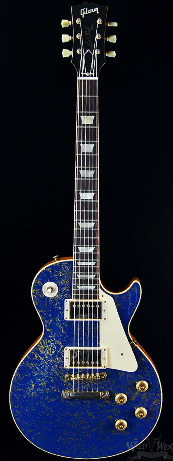 gibson les paul 1957 reissue gold blue preowned wild west guitars. Black Bedroom Furniture Sets. Home Design Ideas