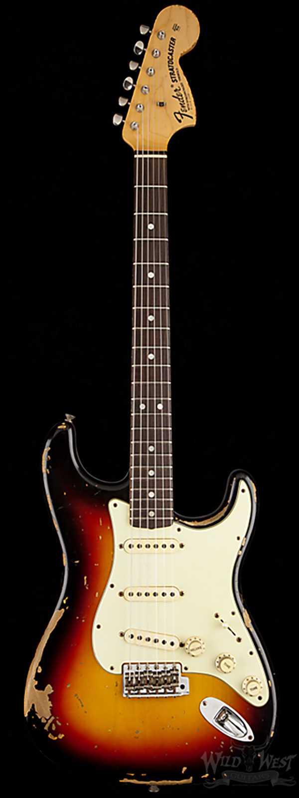 Fender CS Michael Landau Signature 68 Relic Stratocaster 3 Tone Sunburst