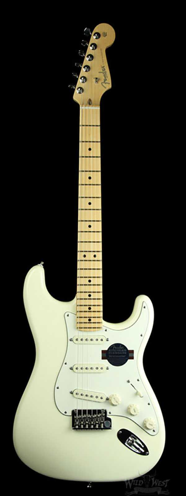 Fender American Standard Stratocaster Olympic White w/ Maple Fingerboard