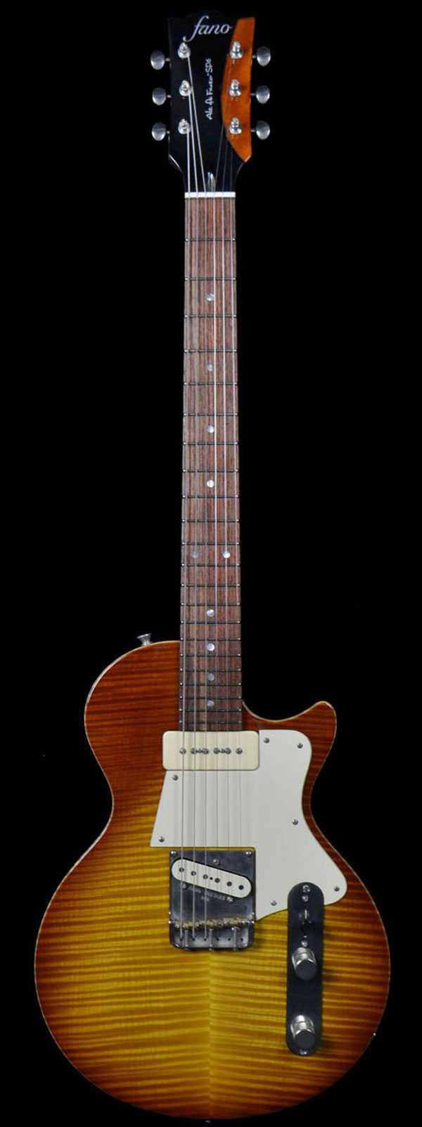 Fano Alt de SP6 Flame Top Tobacco Burst