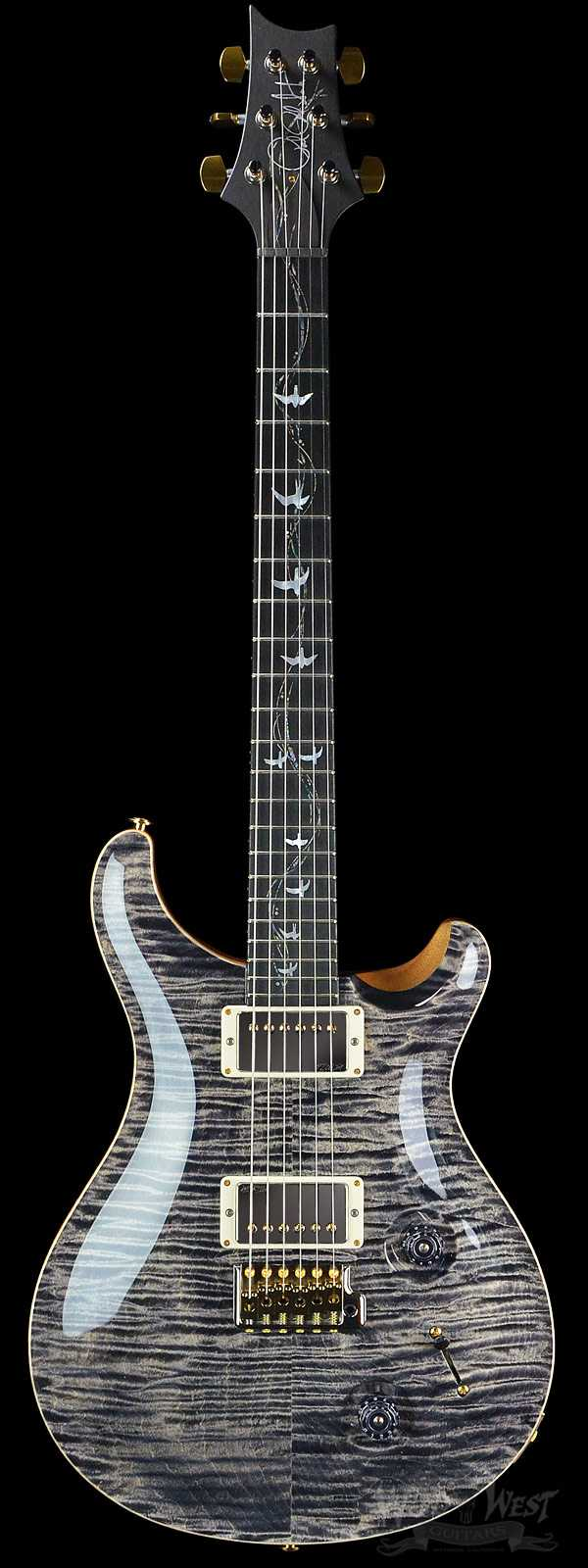 PRS Artist Package 30th Anniversary Vine Custom 22 Charcoal w/ Matching Flame Maple Neck