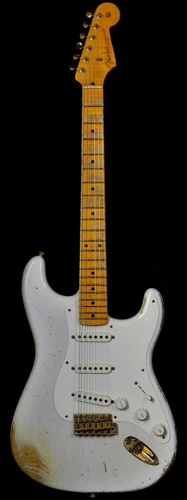 Fender 1956 Stratocaster Heavy Relic AA Flame Maple Neck Mary Kaye Blonde