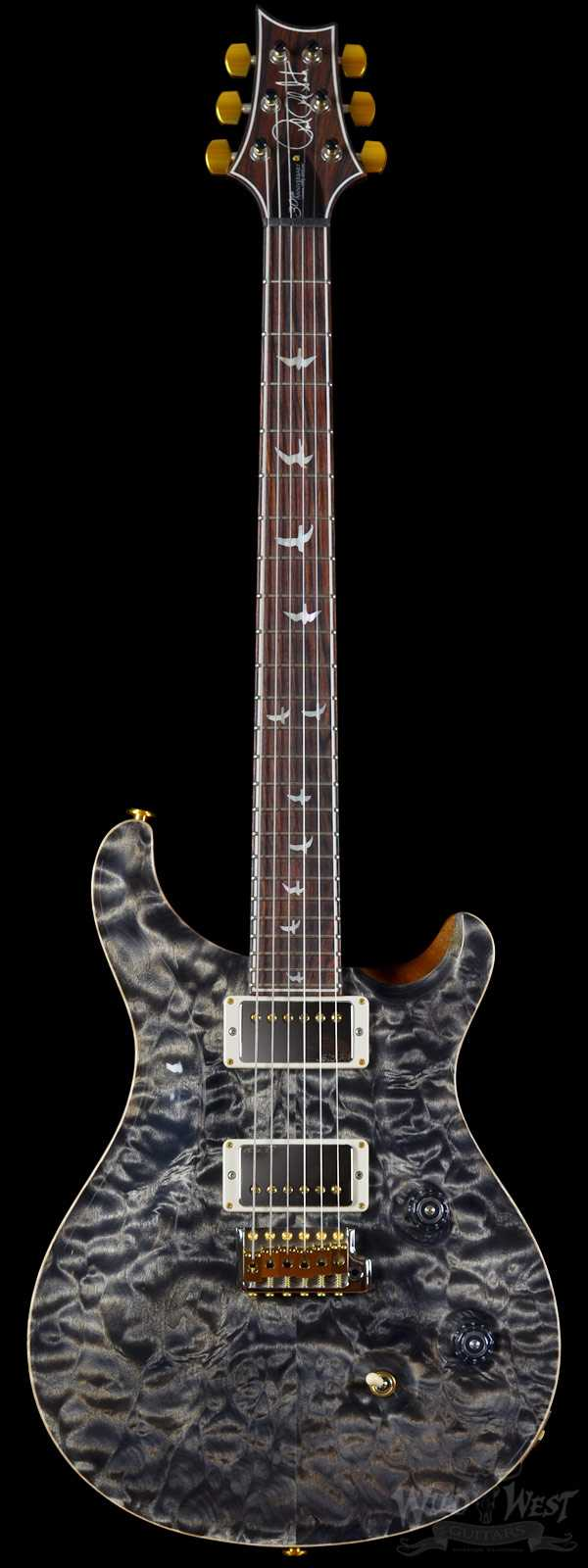 "PRS ""Perfect World"" Wood Library 30th Anniversary Custom 24 Quilt Charcoal w/ Rosewood Neck"