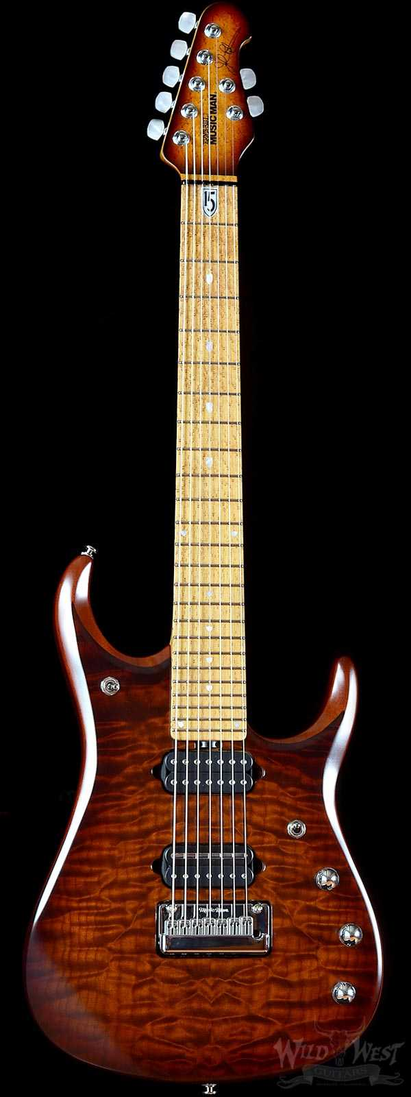 Ernie Ball Music Man JP15 7 Sahara Burst Quilt Maple Top