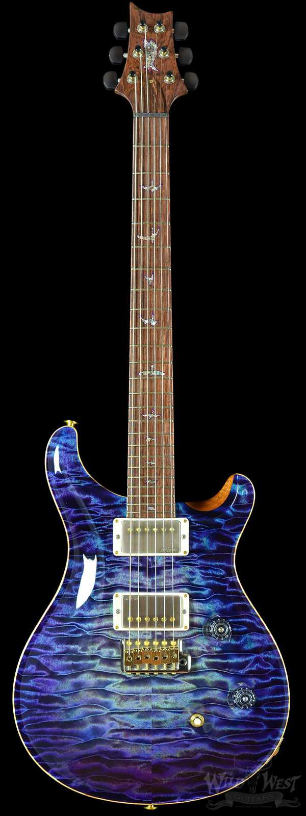 PRS Private Stock #5680 Custom 24 Quilted Maple Aqua Violet Glow w/ Honduran Rosewood Neck