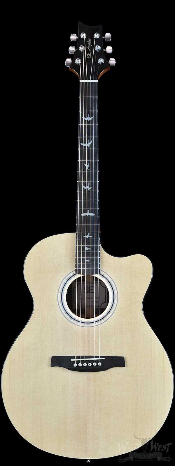 PRS SE Angelus A30E Acoustic-Electric Rosewood Back and Sides