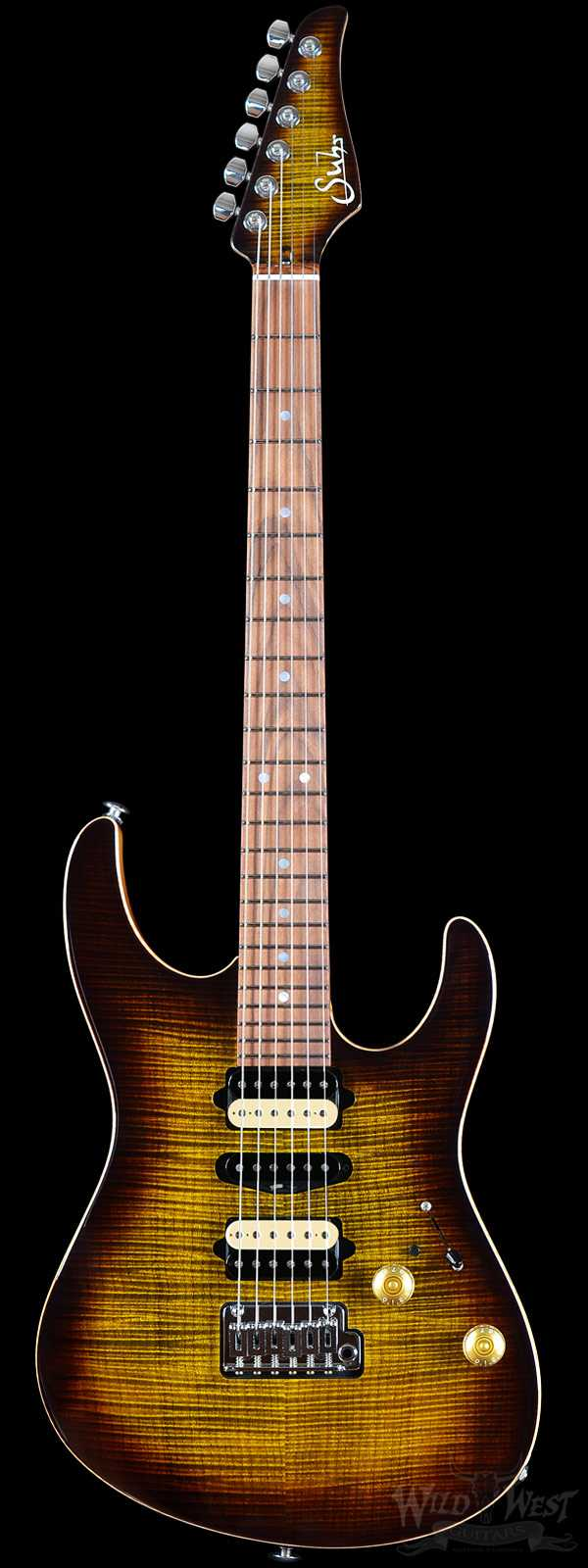 Suhr Custom Modern Bengal Burst Flame Maple Top
