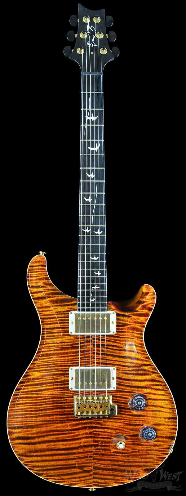 2011 PRS Private Stock #3466 Custom 22 Electric Tiger with 20th Anniversary Birds Inlay