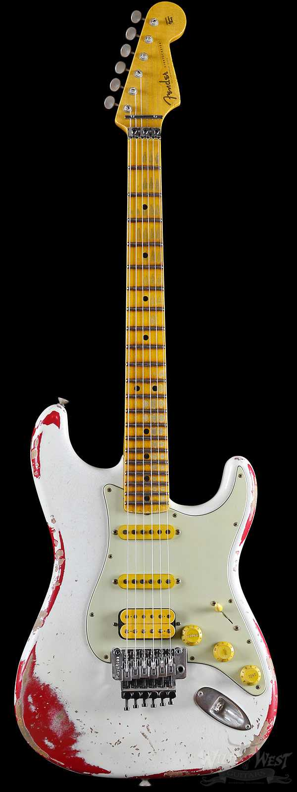 Fender 1960 Stratocaster White Lightning Faded Torino Red w/ Floyd Rose