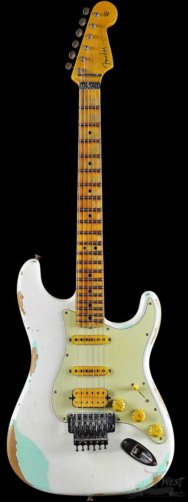 Fender 1960 Stratocaster White Lightning Faded Surf Green w/ Floyd Rose