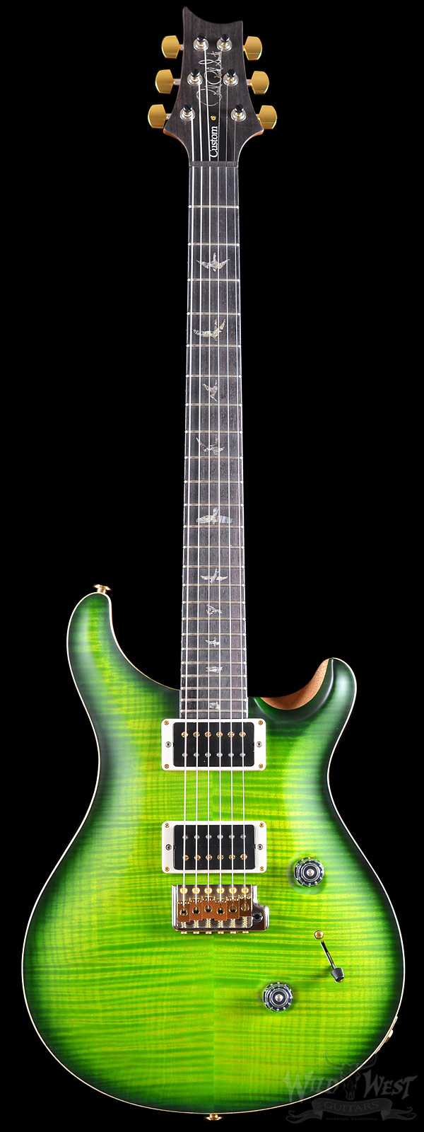 PRS Custom 24 Ten Top Satin Eriza Verde Smoked Burst