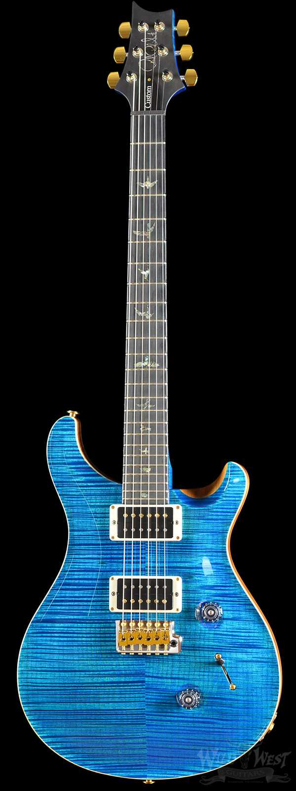 PRS Artist Package Custom 24 Aquamarine w/ Matching Flame Maple Neck