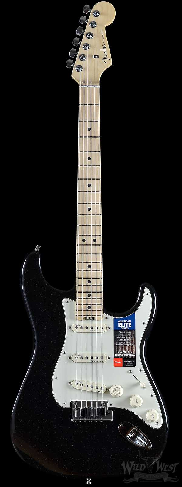 Fender American Elite Stratocaster Mystic Black Maple Board