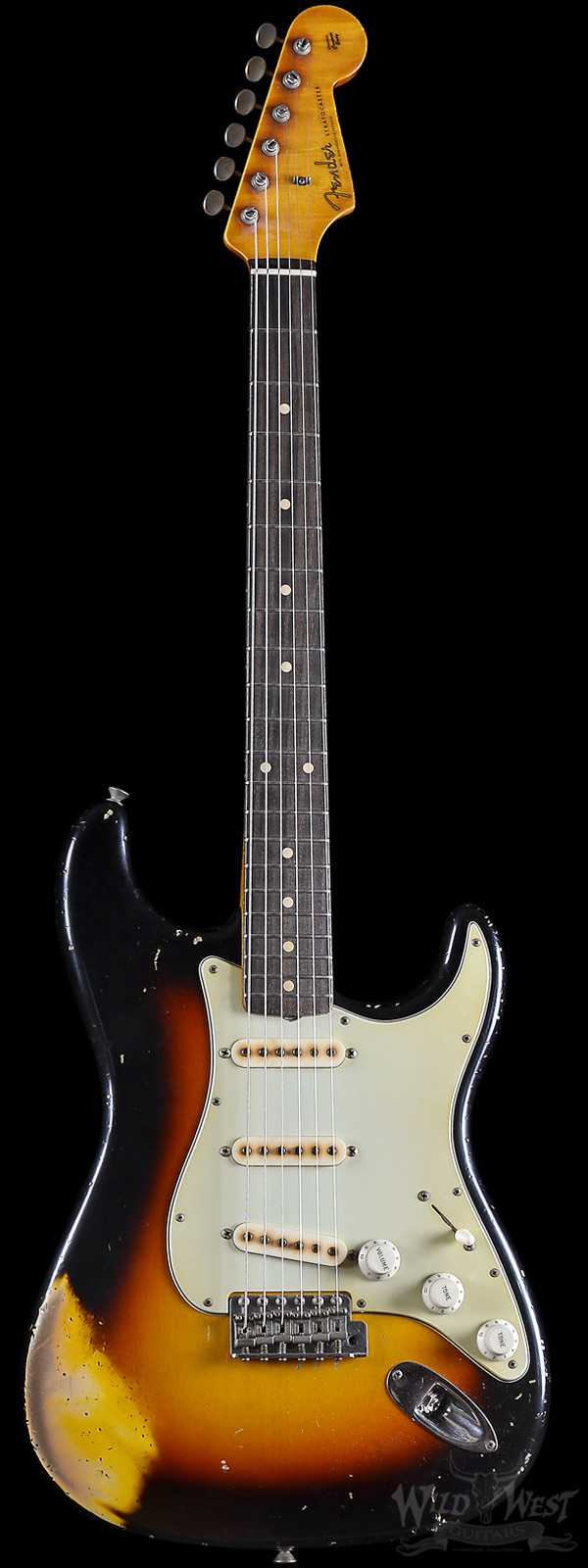 Fender Masterbuilt John Cruz 1960 Relic Stratocaster Wide Faded Three Tone Sunburst