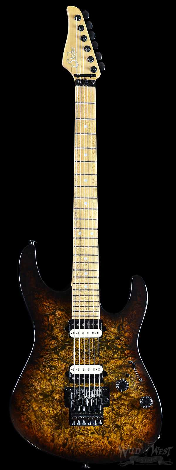 2012 Suhr Modern Custom Burl Maple Light Bengal Burst
