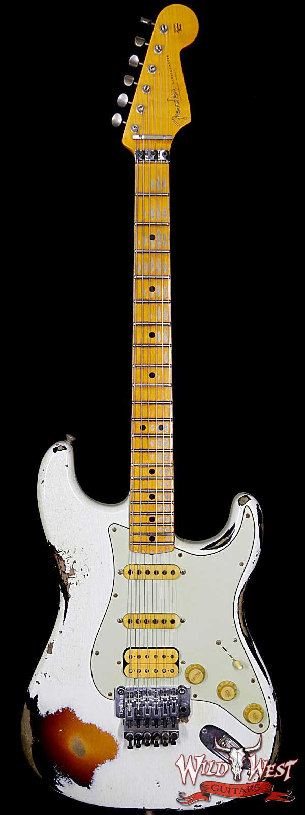 Fender 1960 Stratocaster Heavy Relic White Lightning Olympic White over Three Tone Sunburst