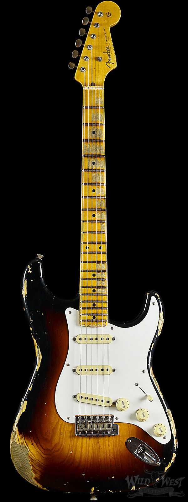 Fender Limited Edition 1956 Relic Stratocaster Wide Fade 2 Tone Sunburst