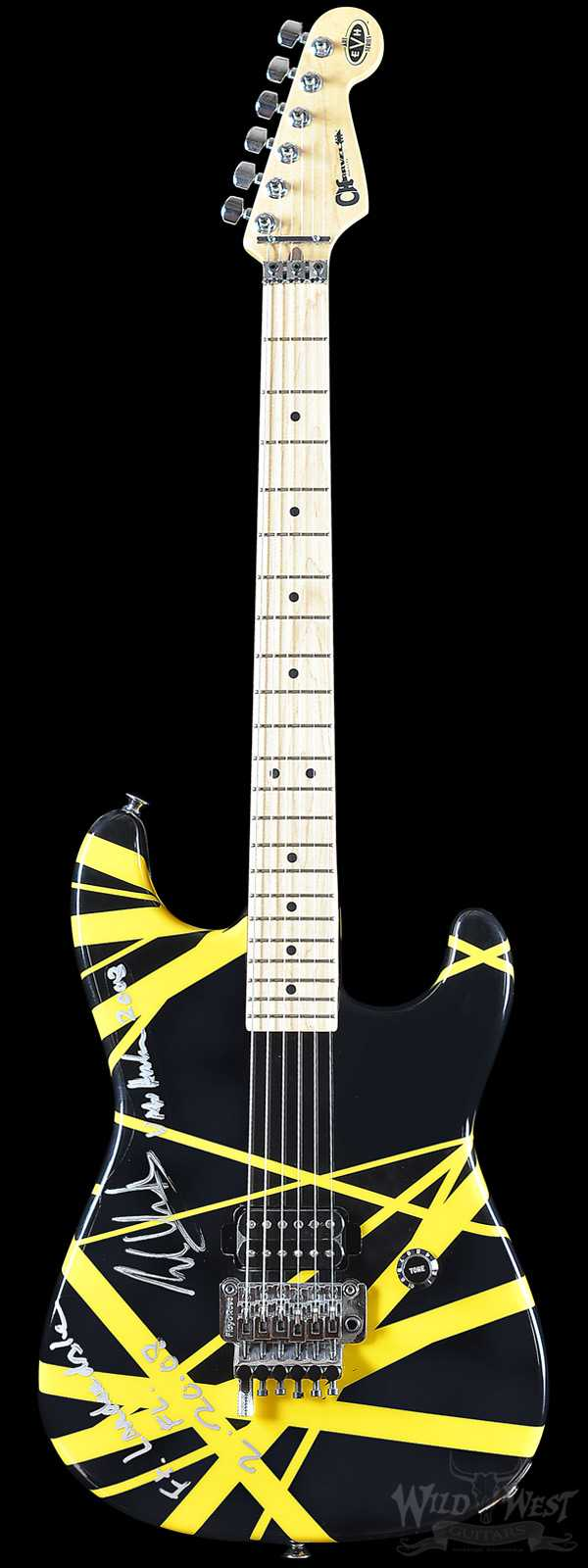 2008 Charvel EVH Art Series Guitar Black & Yellow Eddie Van Halen Hand Painted & Signed