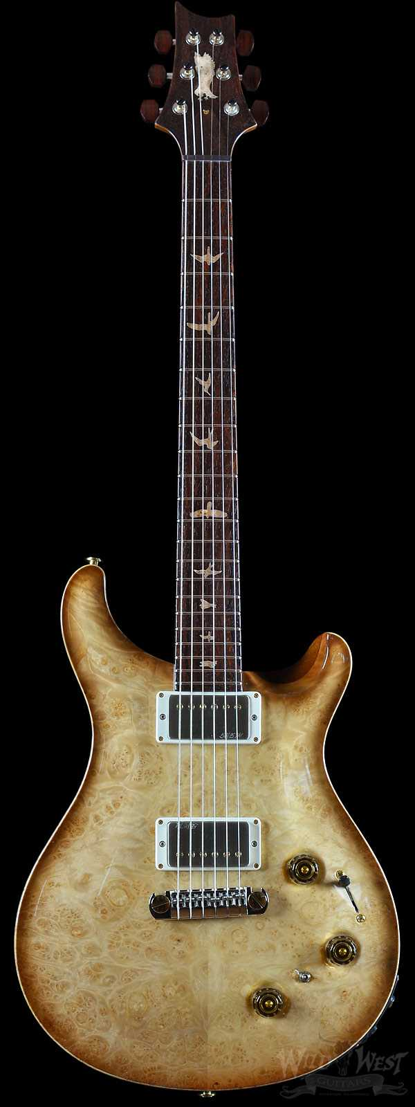 PRS Private Stock #6140 P22 Burl Maple Top with Smoked Burst