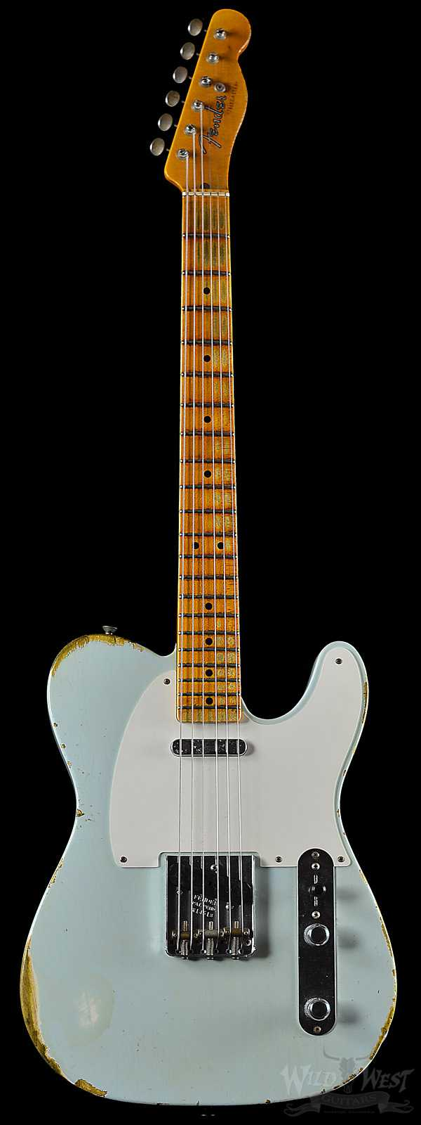Fender 1952 Telecaster Heavy Relic Faded Sonic Blue Streamlined U Neck