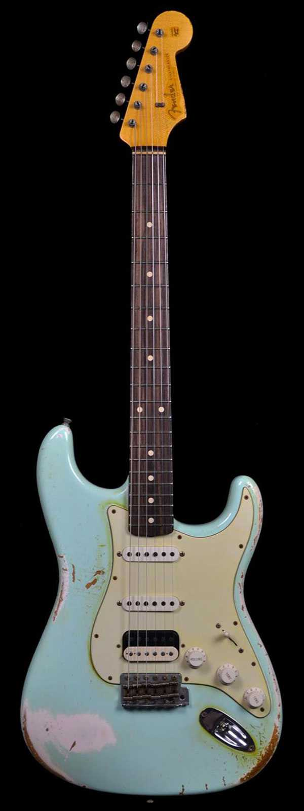 fender 1960 stratocaster heavy relic surf green over shell. Black Bedroom Furniture Sets. Home Design Ideas