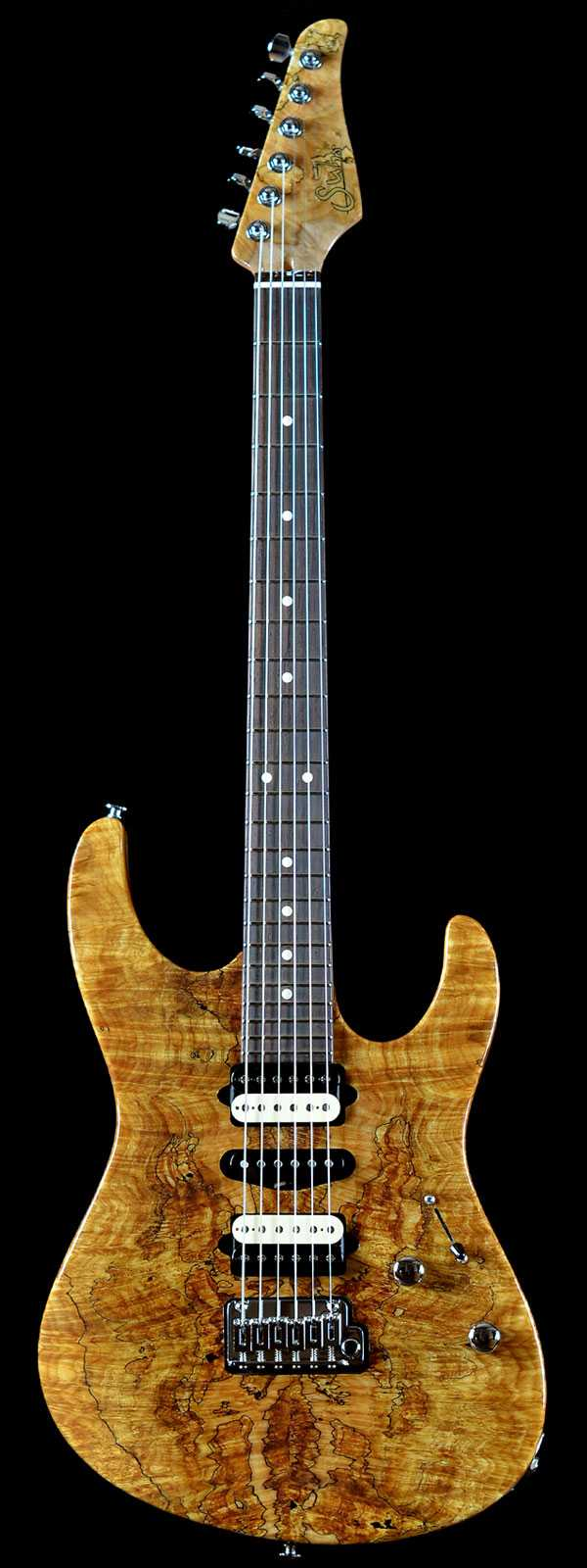 Suhr Modern Spalted Maple Natural w/Satin Mahogany Neck