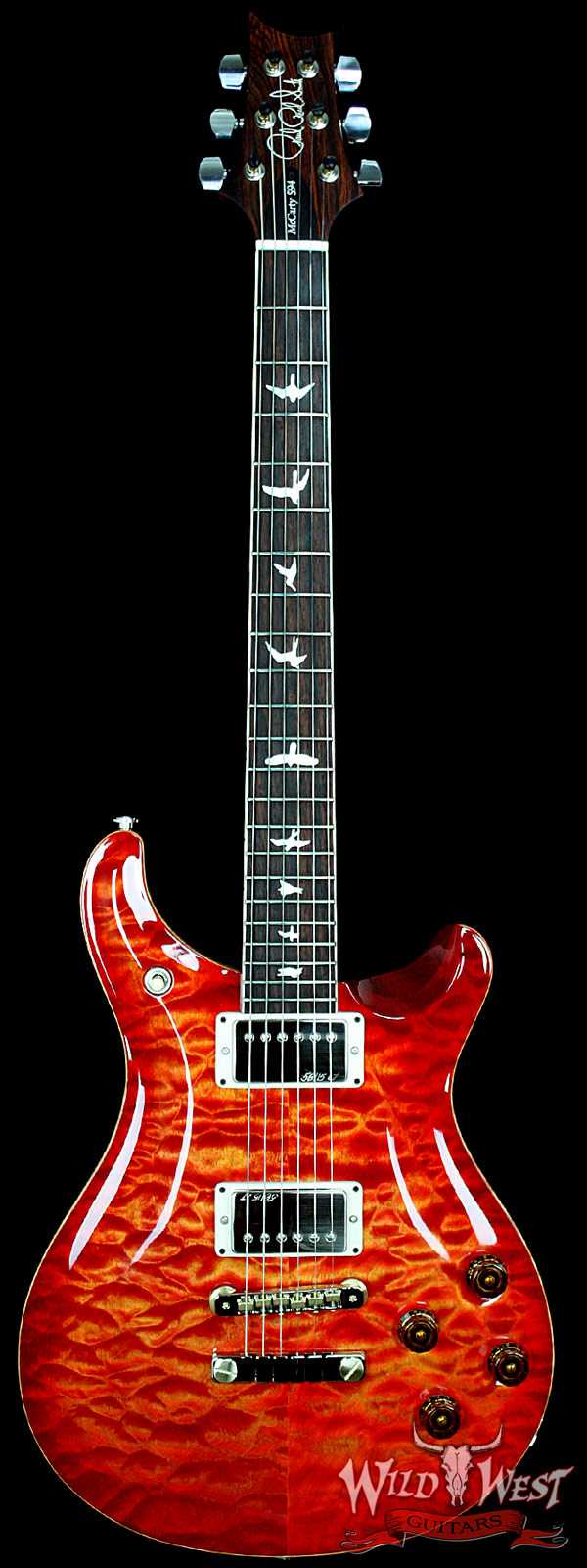 PRS Artist Package McCarty 594 Blood Orange Quilt Top W/Cocobolo Fretboard