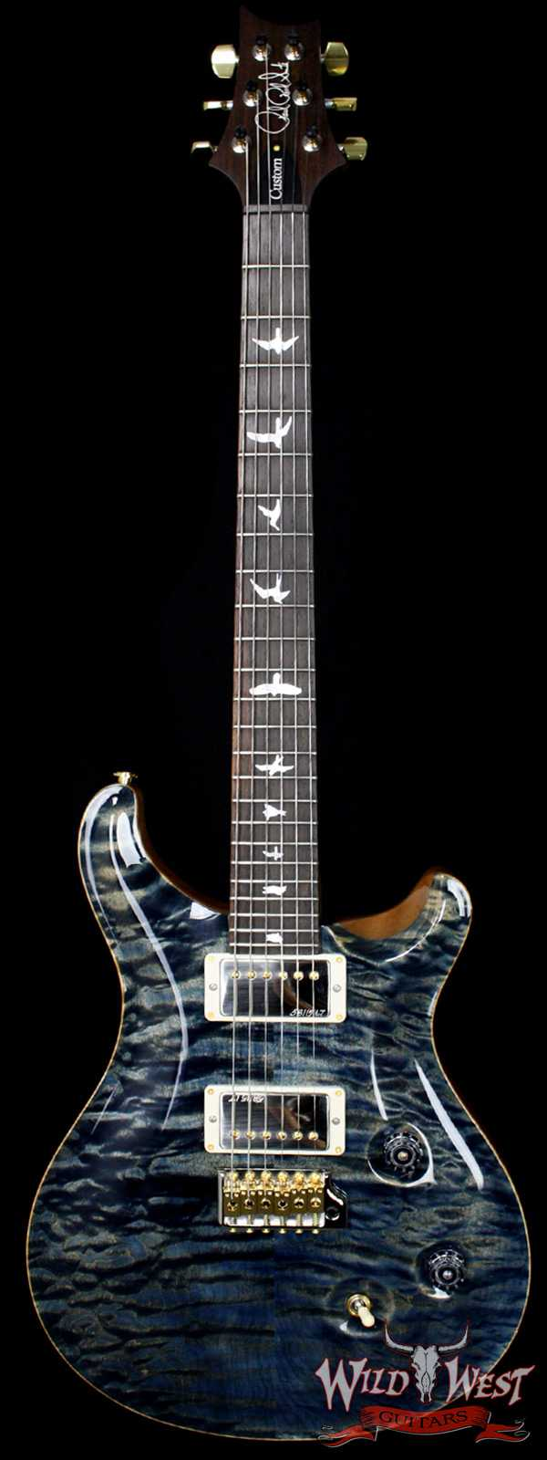 PRS Wood Library 10 Top Fatback Custom 24 Quilt Top Faded Whale Blue W/Brazilian Fretboard