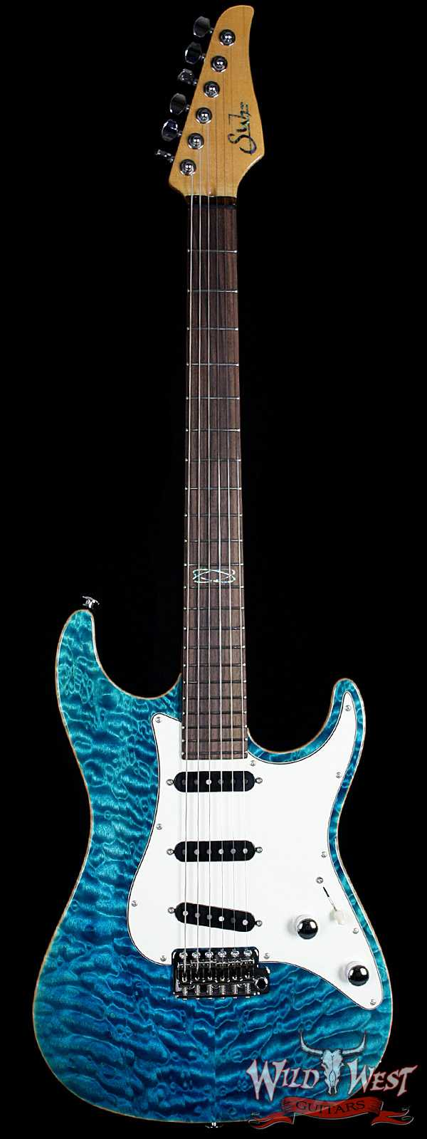 Suhr Standard Quilted Maple Top Bahama Blue SSS
