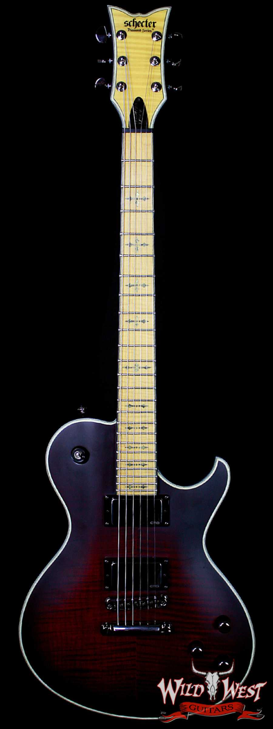 schecter hellraiser extreme solo 6 maple fretboard black cherry wild west guitars. Black Bedroom Furniture Sets. Home Design Ideas