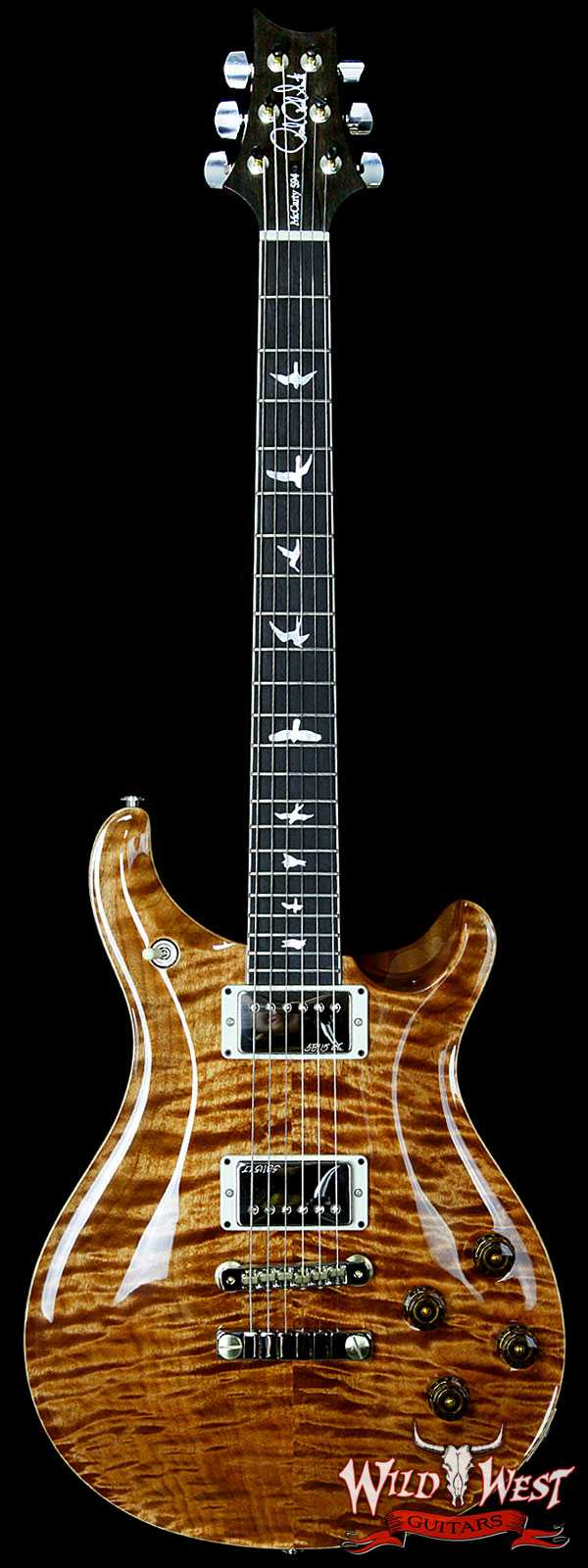 PRS Wood Library 10 Top McCarty 594 Quilt Top Copperhead w/Ebony Fretboard