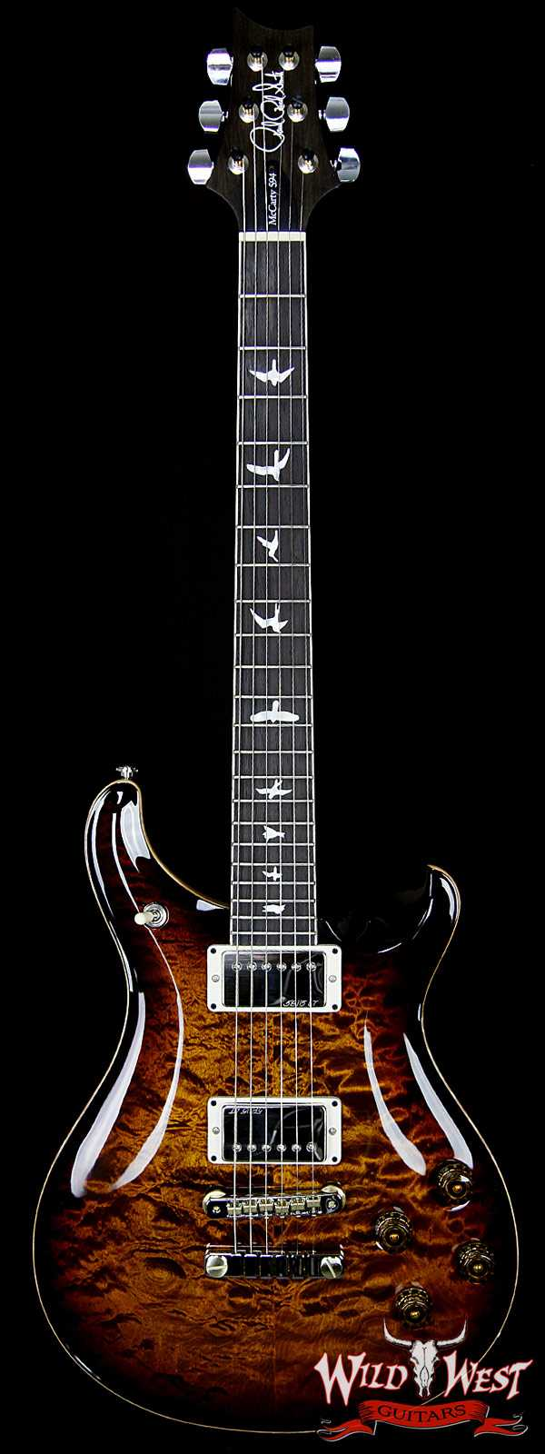 PRS Wood Library 10 Top McCarty 594 Quilt Top Black Gold Burst w/Brazilian Rosewood Fretboard