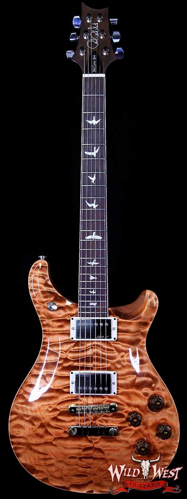 PRS Wood Library 10 Top McCarty 594 Quilt Top Copperhead w/Brazilian Rosewood Fretboard