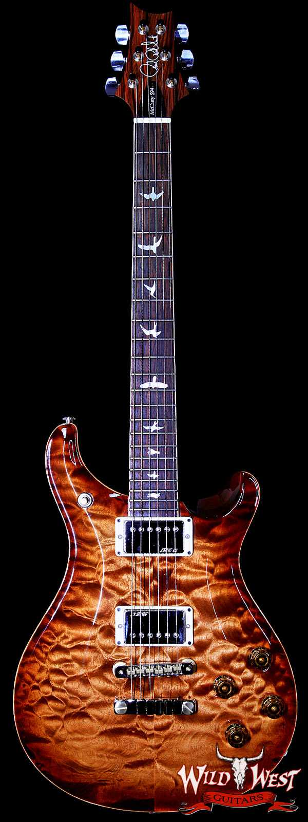 PRS Wood Library Artist Package McCarty 594 Copperhead Burst Quilt Top W/Cocobolo Fretboard