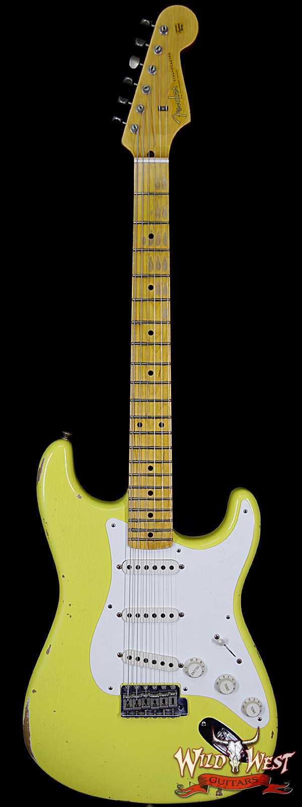 Fender Custom Shop 1957 Stratocaster Relic Maple Board Graffiti Yellow