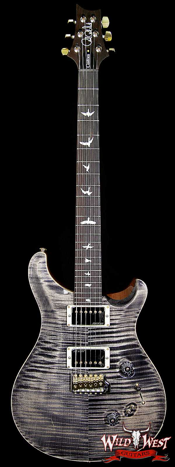 PRS Wood Library 10 Top Custom 24/08 Charcoal Flame Top w/Brazilian Rosewood Fretboard
