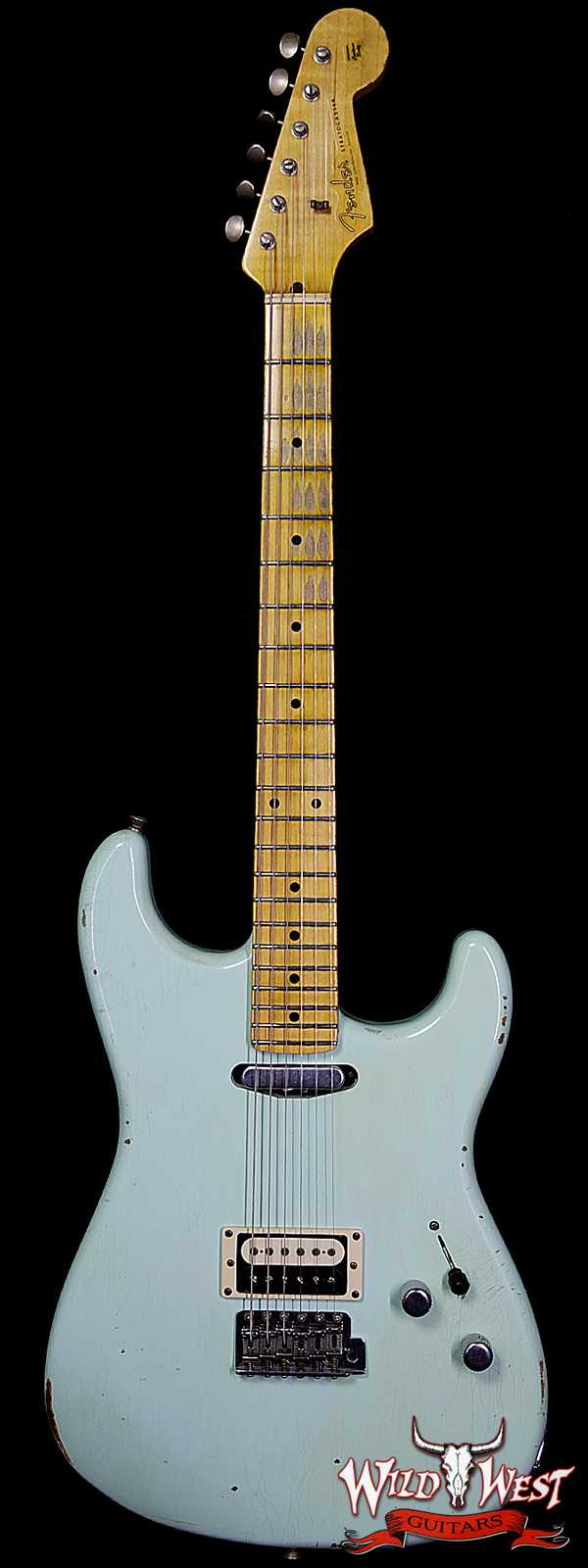Fender Custom Shop Limited Relic H/S Stratocaster Guitar Aged Surf Green