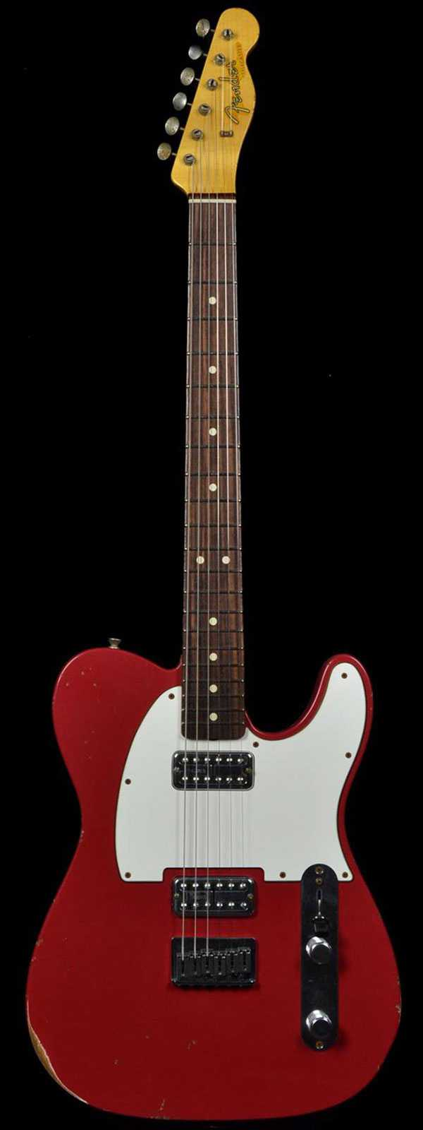 Fender 1963 Custom Relic Telecaster TV Jones Classic Pickups Faded Dakota Red Preowned