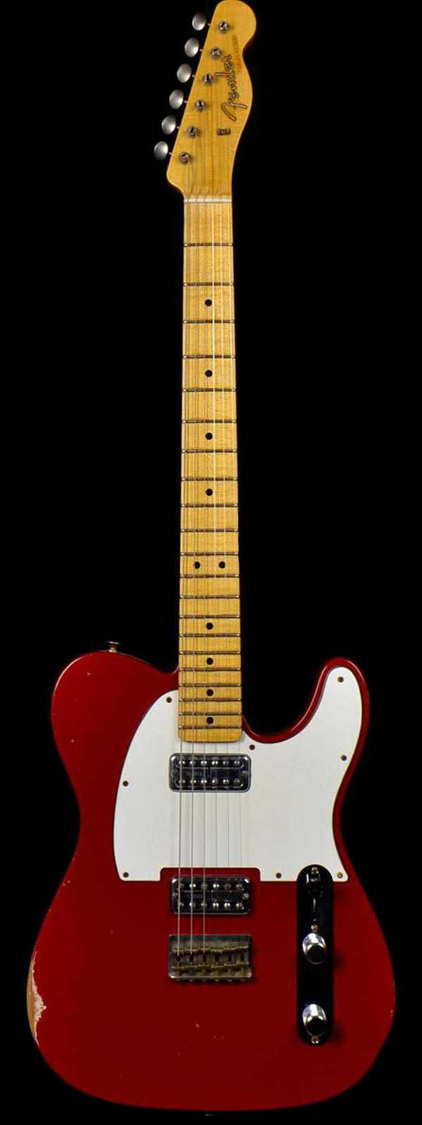 Fender 1963 Custom Relic Telecaster TV Jones Classic Pickups Torino Red Preowned