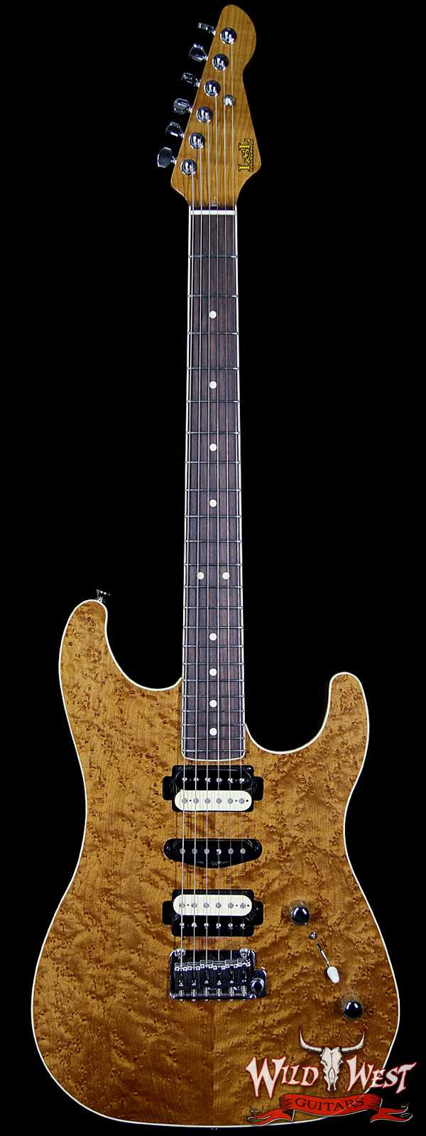 "LsL XT3 Deluxe HSH ""Birdee"" Roasted Birdseye Top and Roasted Maple Neck Natural Aged"