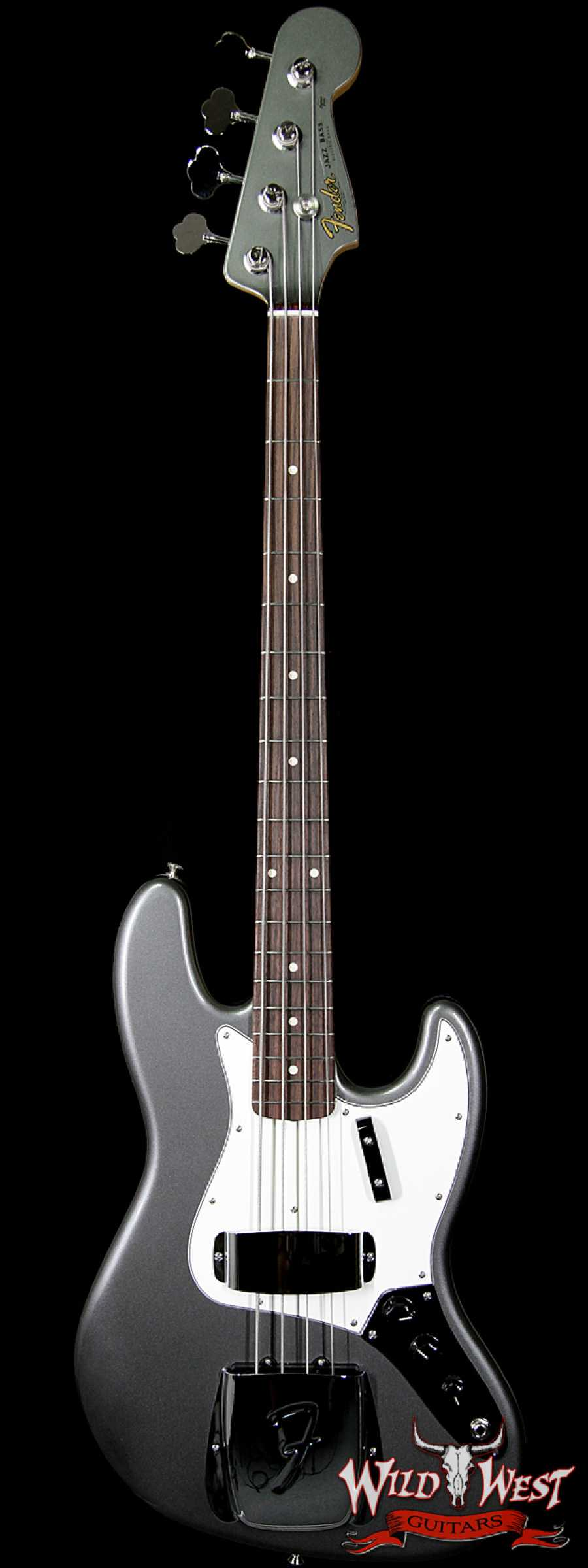 fender custom shop 1964 jazz bass nos rosewood fretboard pewter matching head wild west guitars. Black Bedroom Furniture Sets. Home Design Ideas