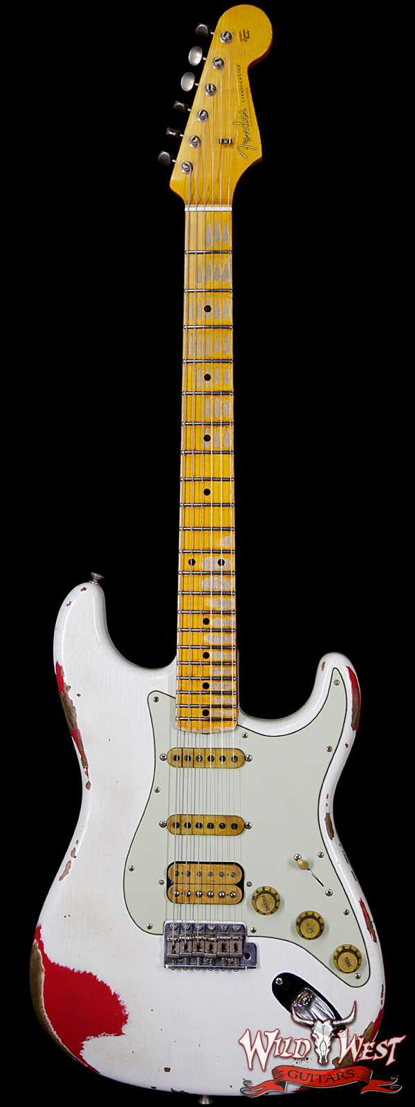 Fender Custom Shop White Lightning 2.0 HSS Stratocaster Heavy Relic Maple Board 21 Frets Torino Red