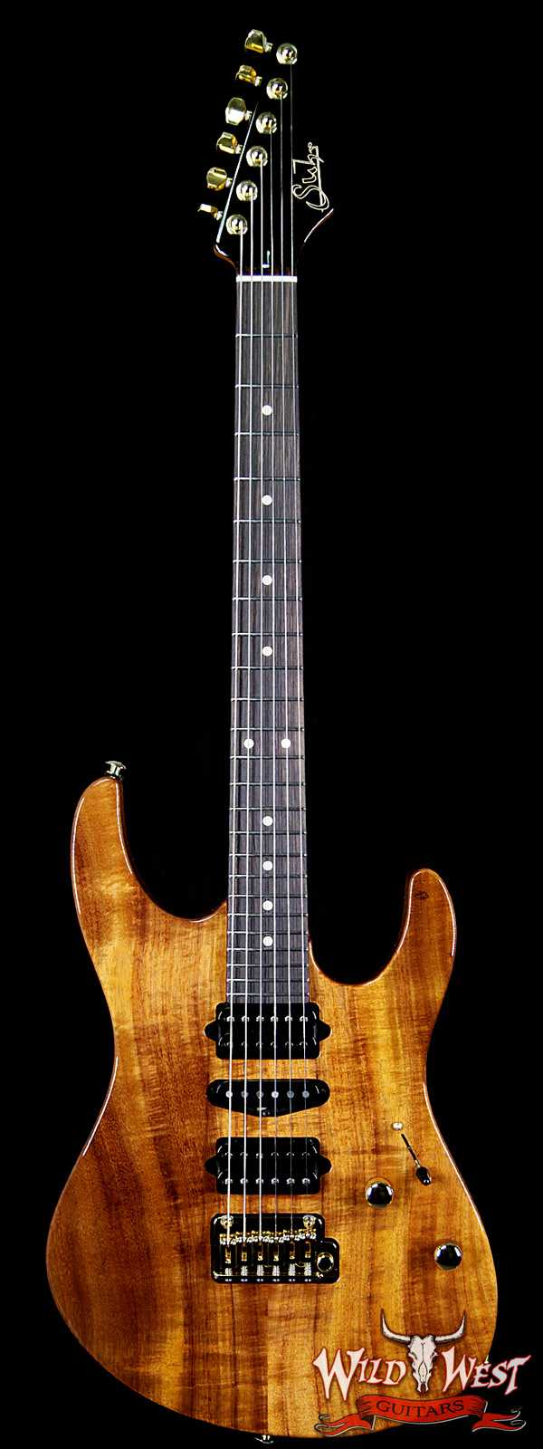 Suhr Modern HSH Koa Body Roasted Maple Neck Indian Rosewood Fretboard Natural