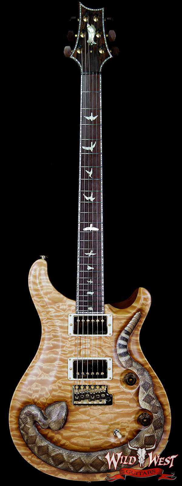 PRS Private Stock PS6691 Wild West Snake Custom 24 LTD #1 of 6 Quilt Top Rosewood Board and Neck