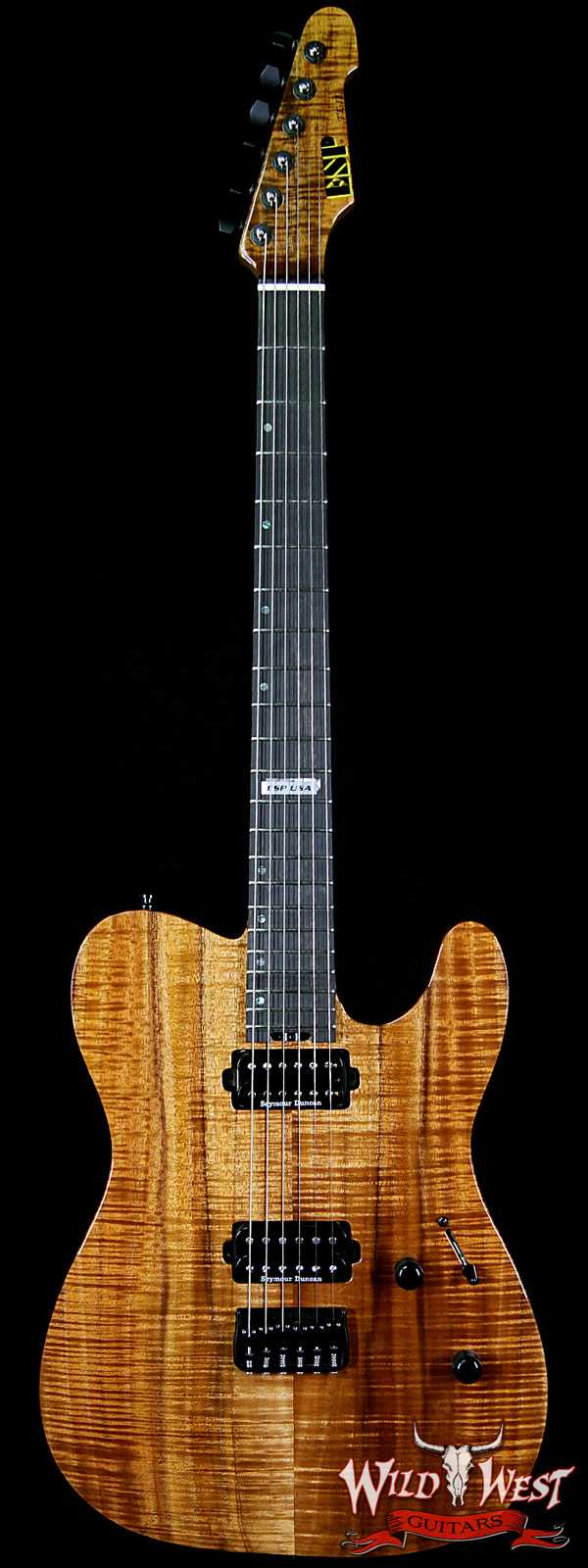ESP USA Limited Edition 6 of 25 TE-II Hardtail Koa Top with Ebony Fretboard Natural