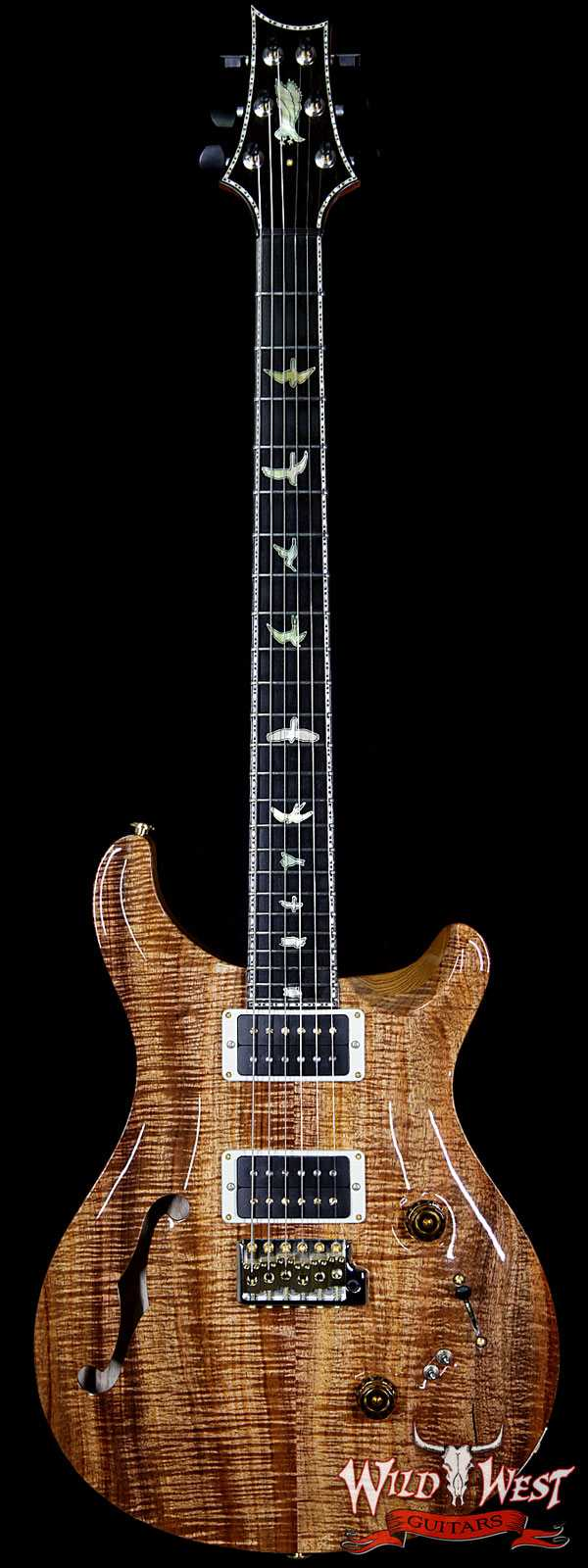 PRS Private Stock 7042 Custom 24/08 Semi-Hollow Tasmanian Blackwood Top Sapele Back Tulip Neck Ebony